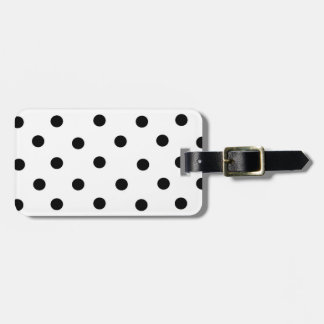 Black/White Polka-Dot and Coral Bag Tag