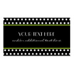 Black & White Polka Dot Double-Sided Standard Business Cards (Pack Of 100)