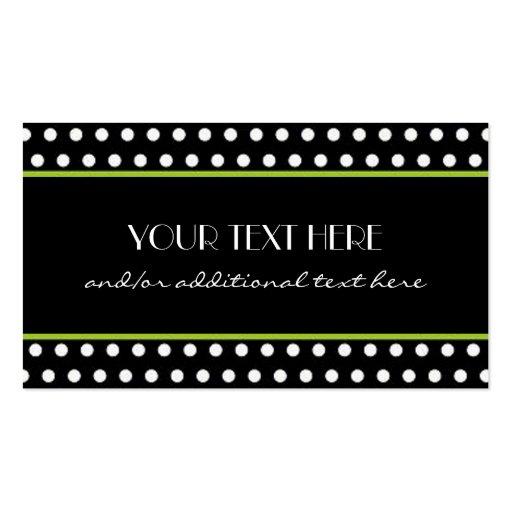 Black white polka dot business card template zazzle for Polka dot business card templates free