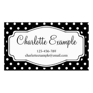 Black White Polka Dot Classic Custom Business Card