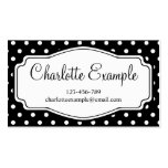 Black White Polka Dot Classic Custom Double-Sided Standard Business Cards (Pack Of 100)