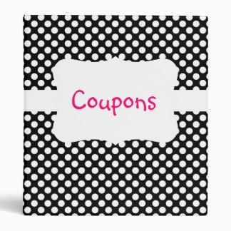 Black/White Polka Dot Coupon organizer Binders
