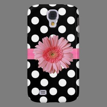 Black & White Polka Dot HTC Vivid Phone Case Galaxy S4 Case