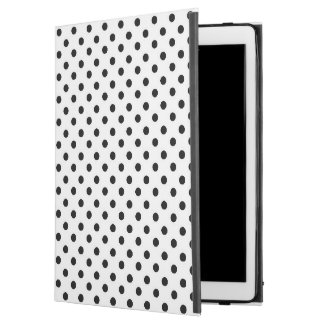 Black white polka dot iPad Pro case
