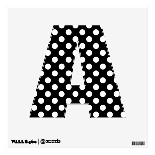 polka dot letters black white polka dot letter a wall decal zazzle 24021 | black white polka dot letter a wall decal rf2c6afc570f946028d63b5c7e71c08bf 88g02 8byvr 512