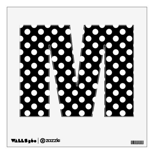 letter a with polka dots black amp white polka dot letter m wall decal zazzle 22783 | black white polka dot letter m wall decal r94e5fae2dfd5497584d49cf45cc6129b 88g0e 8byvr 512