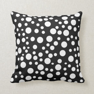 Black White Polka Dot Madness Mojo pillow