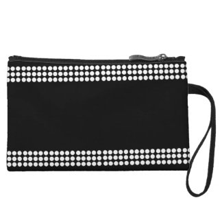 Black & White Polka Dot Mini Wristlet