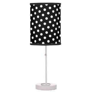 Black White Polka Dot Pattern Desk Lamps