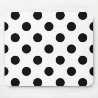 Black white Polka Dot Pattern Print Design Mouse Pad