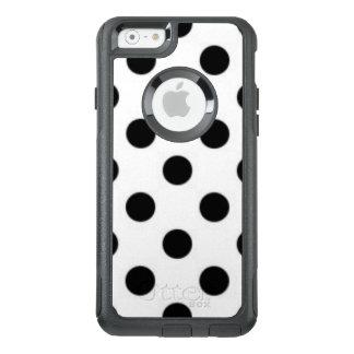 Black white Polka Dot Pattern Print Design OtterBox iPhone 6/6s Case