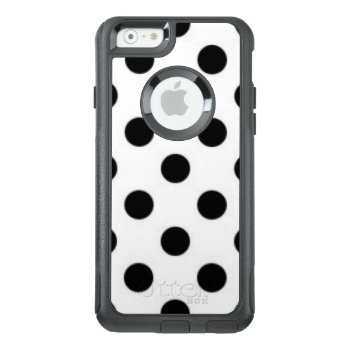 Black White Polka Dot Pattern Print Design Otterbox Iphone 6/6s Case by personaleffects at Zazzle