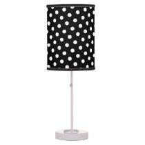 Black & White Polka Dot Pattern Table Lamp