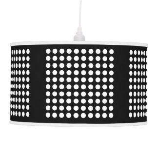 Black & White Polka Dot Pendant Lamp