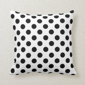 Black & White Polka Dot Pillow