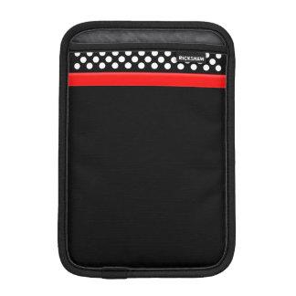 Black / White Polka Dot Red Band iPad Mini Cover