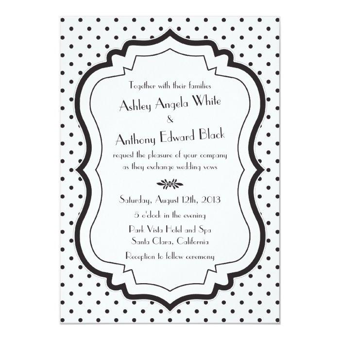 Black white polka dot invitation template 28 images pink black black stopboris Image collections