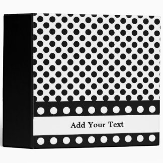 "Black & White Polka Dots 3 Ring  2"" Binder"