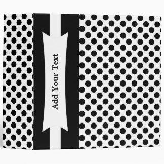 Black & White Polka Dots 3 Ring  Binder