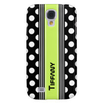 Black & White Polka Dots and Stripes Custom Samsung Galaxy S4 Cover