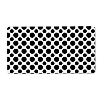 Black White Polka Dots Big and Small Label