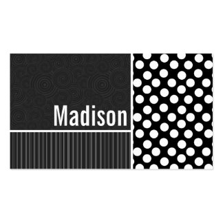 Black & White Polka Dots Business Card Templates