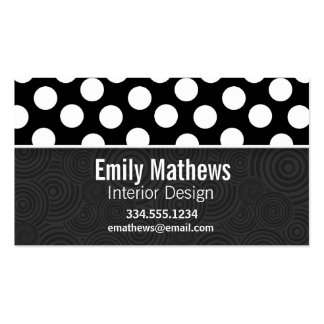 Black & White Polka Dots Business Card