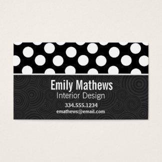 Black & White Polka Dots Business Card