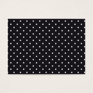 Black White Polka Dots Business Card