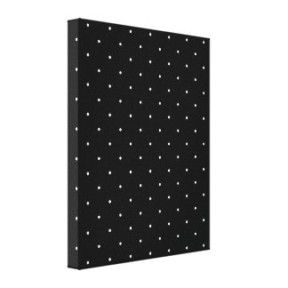 Black & White Polka Dots Canvas Print