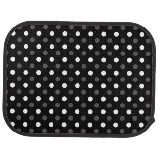 Black white polka dots car floor mat