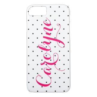Black & White Polka Dots | Custom iPhone 7 Case
