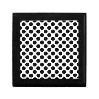 Black White Polka Dots Trinket Boxes