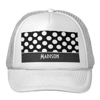 Black & White Polka Dots Trucker Hat