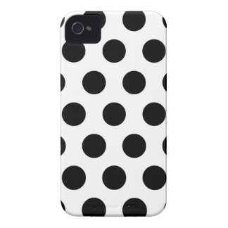 Black white Polka Dots - iPhone 4 Cover