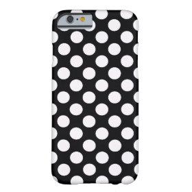 Black White Polka Dots - iPhone 6 case