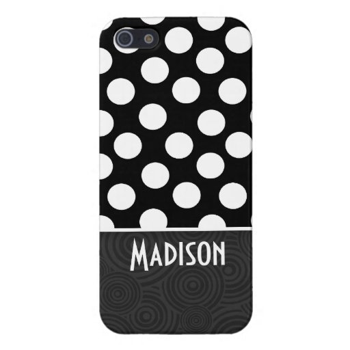Black & White Polka Dots Cover For iPhone 5