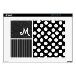 Black & White Polka Dots Laptop Skin