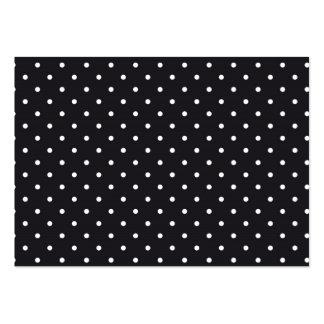 Black White Polka Dots Large Business Card