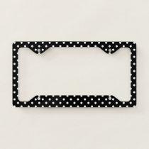 Black & White Polka Dots Licence Plate Frame