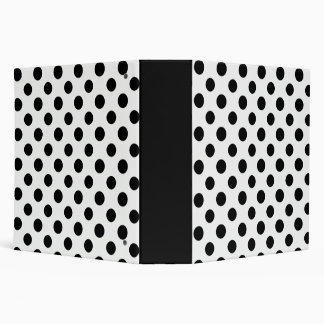 Black White Polka Dots Pattern Vinyl Binders