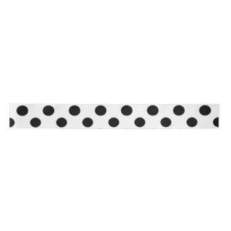 Black White Polka Dots Pattern Blank Ribbon
