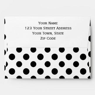 Black White Polka Dots Pattern Envelope