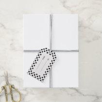 Black White Polka Dots Pattern Gift Tags