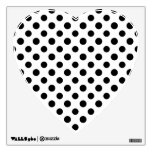 Black White Polka Dots Pattern Room Decal