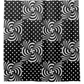 Black White Polka Dots Shower Curtains | Zazzle