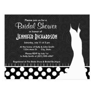 Black & White Polka Dots Postcard