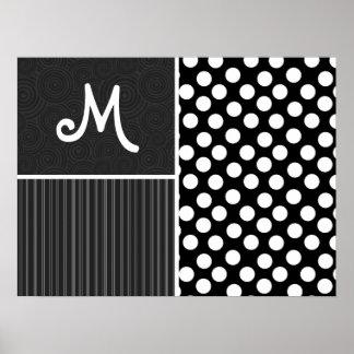 Black & White Polka Dots Poster