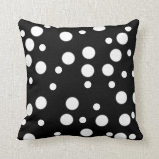 Black White Polka Dots Reversible Pillows