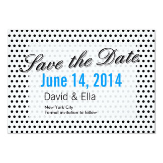 "Black & White Polka Dots Save the Date Cards 3.5"" X 5"" Invitation Card"